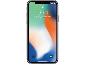 Ny iPhone X 64GB silver olåst
