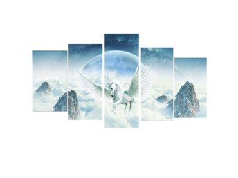 5Pcs Unicorn Abstract Flowers Canvas Print Painting Pictu...