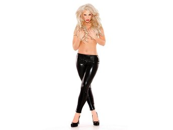 Sexy Kitten - Wet Look Pants - SUPERSEXIGA BYXOR TILL FESTEN!