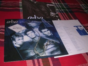 a-ha Stay On These Roads (LP) VG+/EX m stor poster