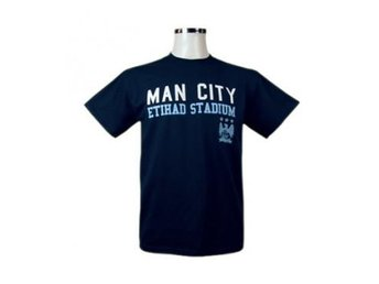 Manchester City T-Shirt Mörkblå XL