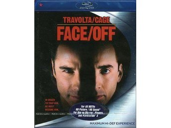 FACE/OFF (Svensk Blu-ray!) Face Off - Nicolas Cage, JOhn Travolta