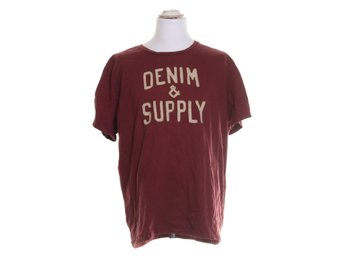 Denim & Supply Ralph Lauren, T-shirt, Strl: XXL, Röd/Vit