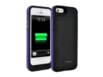 Extern batteriskal iPhone 5/5S (Svart/Lila)