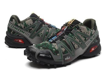 Mens Strl Eu 46 Salomon speedcross3 skor camouflage