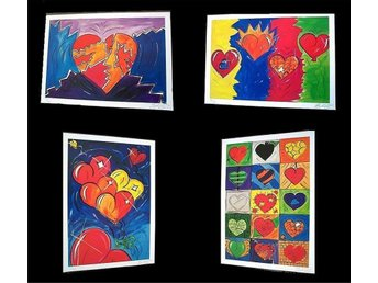 Konstmappen Heart Collection II, 4 st handsig mapp, 2001