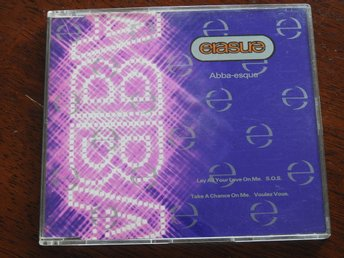 Erasure ?– Abba-Esque CD Single 1992- Lay All Your Love On Me,S.O.S.,Voulez Vous