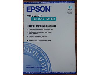 Epson Photo Quality Glossy Paper A3 20-pack S041125 (NY OÖPPNAD)