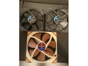 NYA Noctua NF-A14 ULN 140mm + 2X Fractal Design Dynamic X2 GP-12 120mm Svart