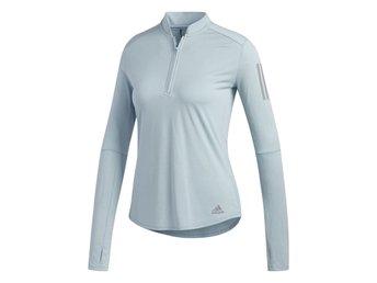NY!! Adidas löpartröja grå stl S OTR Own The Run ZIP dam tröja löpning ljusblå