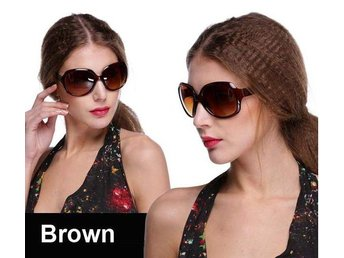 (SKU00146)1ST Retro Women Oversized Designer Sunglasses(Brown)