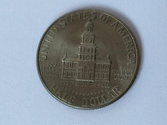 USA 50 cents Half 1/2 Dollar 1976 mynt - 200th Anniversary - Independence of USA