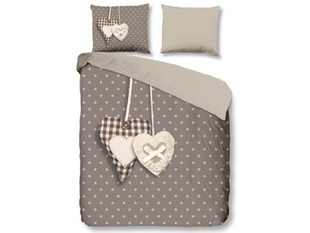 Good Morning Bäddset 5785-P Hearts 240x200/220 cm taupe