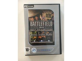 """Javascript är inaktiverat. - Växjö - Battlefield 1942 WWII - Deluxe plus 2 exp paket. En riktigt klassiker som är lika rolig att spela idag. Se bild """"2"""" för mera beskrivningar. (Skivorna är enbart lite repiga och fungerar fint!)Allt på bilderna ingår. Lycka till! - Växjö"""
