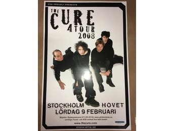 Poster The Cure 4 Tour 2008 Hovet i toppskick
