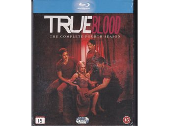 TRUE BLOOD-HELA SÄSONG 4-SVENSK TEXT-NY OCH INPLASTAD 5 DISC BLURAY-BOX.