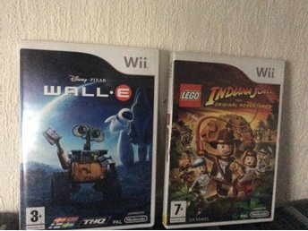 Nintendo Wii Wall•E och Indiana Jones The original adventures