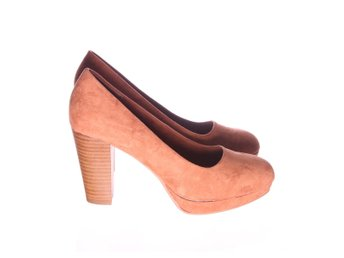 DinSko, Pumps, Strl: 40, Brun, Skinnimitation