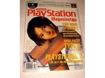 PLAYSTATION Mag  Nr17  HELT NY m CD  5/1999 STAR WARS  Ep 1