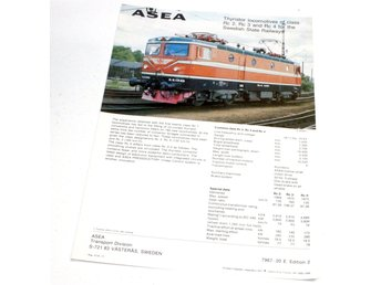 ASEA Rc2 Rc3 Rc4 for Swedish State Railways SJ. Tryckt 1977