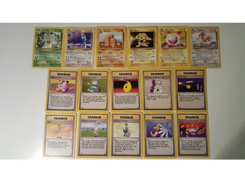 Pokemon Komplett Non-Holo base set 86/86 - Stockholm - Alla non-holo kort från Base set i Lightly played / Near mint skick! Energierna som man får är alla shadowless, vilket man ser om man kollar på nedre delen av kortet där det står Copyright 1995,96,98,99 istället för Copyright 1995,96,9 - Stockholm
