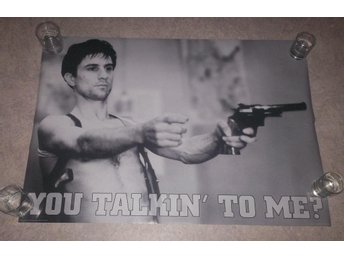 TAXI DRIVER (poster affisch) YOU TALKIN TO ME? Travis Bickle, De Niro, Scorsese