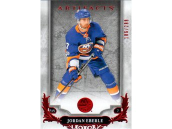 2018-19 Artifacts 60 Jordan Eberle New York Islanders Ruby 186/299