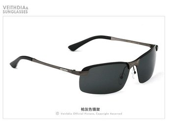 (SKU00143) VEITHDIA Polarized Men's Sunglasses rectangle Outdoor Sports (gray)