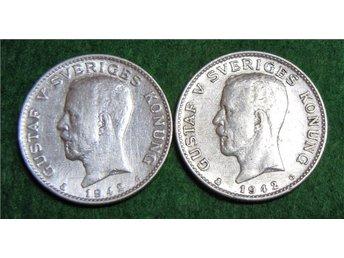 ** 2 ENKRONOR 1942 år u. bild 80% silver ** - Gnosjö - ** 2 ENKRONOR 1942 år u. bild 80% silver ** - Gnosjö