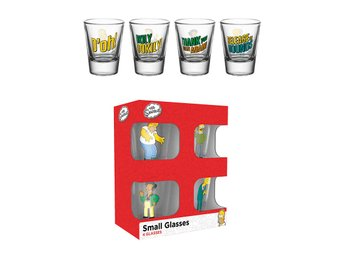 Shotglas (4st) - The Simpsons Quotes