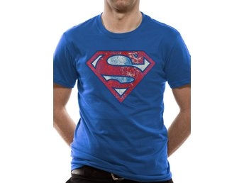 SUPERMAN - LOGO VERY DISTRESSED (UNISEX)  T-Shirt - Extra-Large