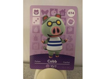 Animal Crossing Amiibo Welcome Amiibo card nr 074 Cobb