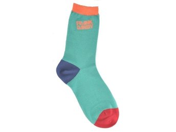 Frank Dandy Bamboo Socks Blocks Multi Sea Green (3