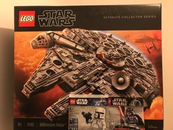 Lego Star Wars 75192 UCS Millennium Falcon+White BobaFett+Darth Vader Chrome-NYA