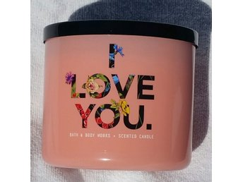 I LOVE YOU GEORGIA PEACH Bath & Body Works 3-wick Candle doftljus bröllop USA
