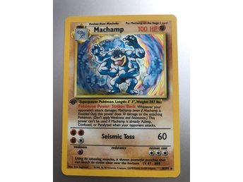 Pokemon Machamp 1 edition 100 HP 8/102 holo rare