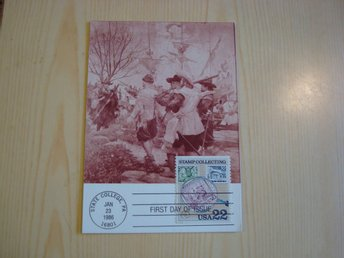 New Sweden Delaware 1986 USA Stamp Collecting maximikort