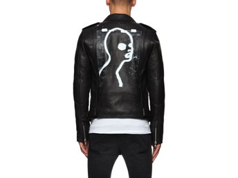 BLK DNM leather jacket print