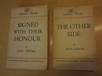 "Zephyr Books / Engelska böcker ""The Other Side och Signed With Their Honour"""