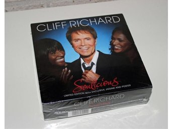 Cliff Richard CD Soulicious, Limited Edition med Exclusive Jigsaw & Poster. Ny!
