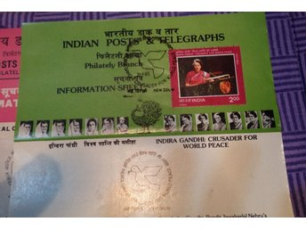 3st Indien Minnes Post Telegraphs 1985  Ghandi
