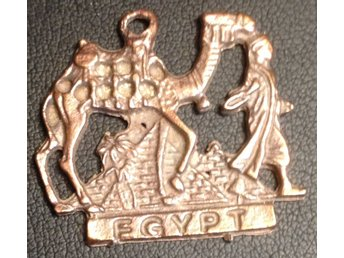 Antique Egypten medalj man and a camel