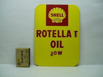 Plåtskylt SHELL Rotella oil