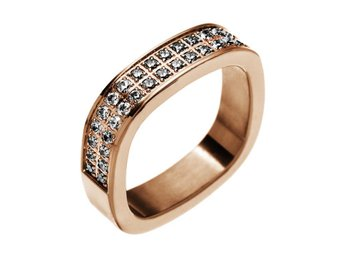 Edblad Jolie ring cz rose gold XS 16mm ringar