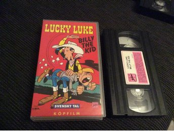 Lucky Luck Billy The Kid Vhs Svensk tal