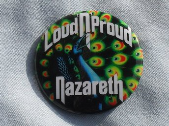 NAZARETH - STOR Badge / Pin / Knapp (70-tal, Status Quo, Deep Purple, Zeppelin,)