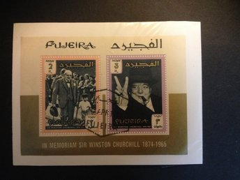 1966 Sir Winston Churchill  Mi-BL3b Fujeira Emirates