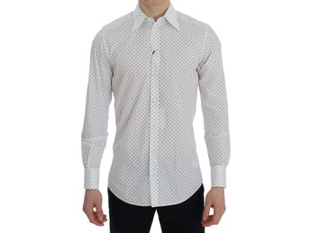 Dolce & Gabbana - White Polka Dot Slim Fit Shirt