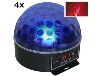 Beamz Magic Jelly DJ-Ball 4-delat set LED-ljuseffekt RGB DMX