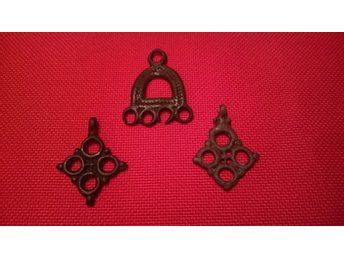 Viking medieval pendants with a very rare ring